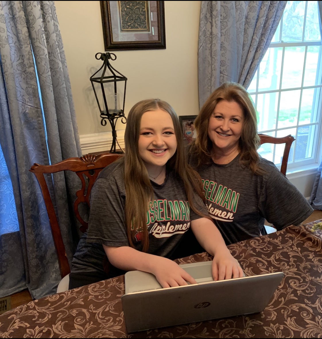 Janelle Sperry with her daughter Elizabeth took action to have Musselman High School seniors adopted after their graduation ceremony was postposed. She received about 800 responses in the first 24 hours.